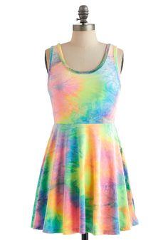 Vintage 90's! Rainbow to Go Dress- ModCloth