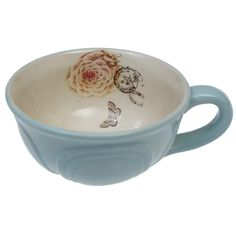 Blue Botanical Breakfast Cup £3.95 from DotComGiftShop