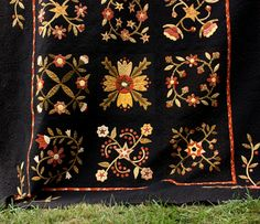Pattern:  Folk Art Blooms by Buggy Barn  Quilts.