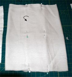 Sew a prefold diaper the real way - tutorial.