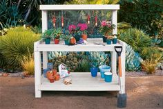 How to build a potting bench for the garden