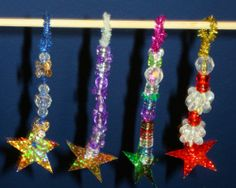 Very simple pipe cleaner and bead ornament