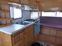 Vintage trailers e thru j on pinterest travel trailers for Rambler kitchen remodel ideas