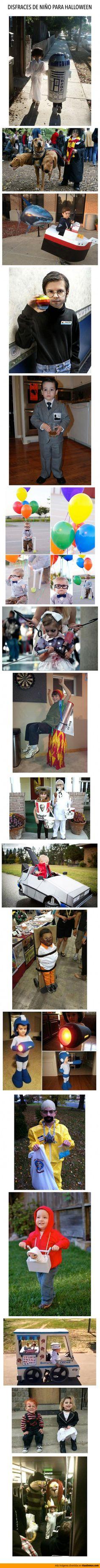 Ideas de disfraces de Halloween para niños.