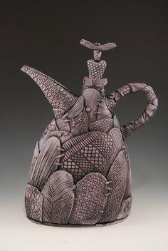 Purple Patchwork Teapot. $295.00, via Etsy.