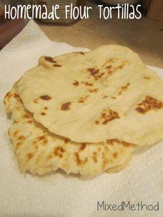 Recipe // Homemade Flour Tortillas