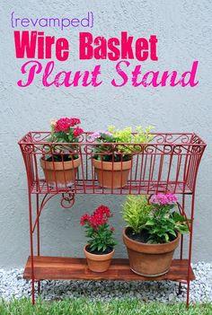 home crafts, plant stands, basket plant, plants, wire baskets