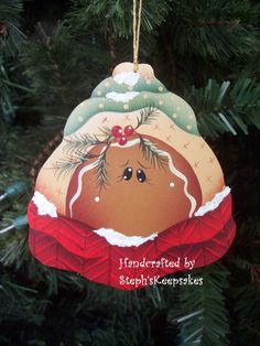 Hand Painted Gingerbread Ornament by stephskeepsakes