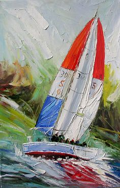 ORIGINAL Oil Painting Sea Reflections36 x 23 Palette by decorpro, $299.00