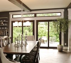 A luxurious wood patio door by ProVia provides exceptional performance with low maintenance.