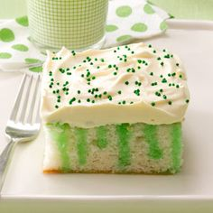 Poke Green Cake Recipe