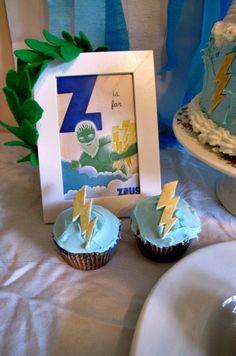 Greek Mythology Birthday Party, Zeus, lightning bolts