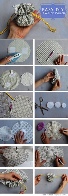 DIY.. Make A Drawstring Jewelry Pouch | Haberdashery Fun
