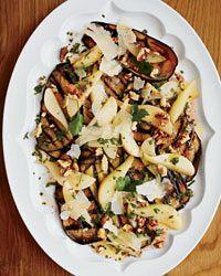 Eggplant, Pear and Pecorino Salad Recipe on Food & Wine