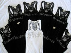 Wedding Bridal Party Lace Tank!! So cute!