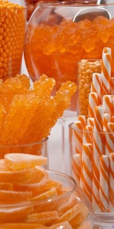 candy buffet...orange