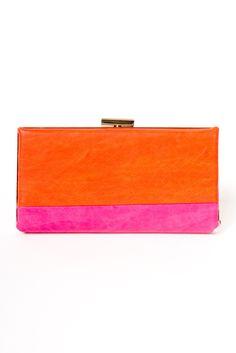 Colorblock Clutch Wallets