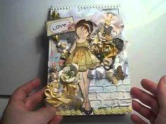 Shabby Chic prima doll stamp altered notebook Mbtreasurista goodies