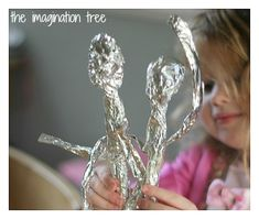 Tin foil sculptures!