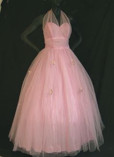 ~1950's Pink Prom Dress~