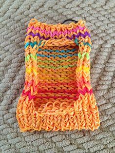 Rainbow loom phone case!