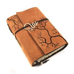 Leather Journal Suede Roots by Kreativlink on Etsy