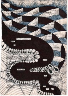 What do you think of me - zentangle pen, journal, draw, art4, idea, crafte, book, inspir, doodl