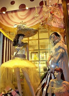 A Christmas window display at Henri Bendel. The New York City Ballet partnered with the store on the display