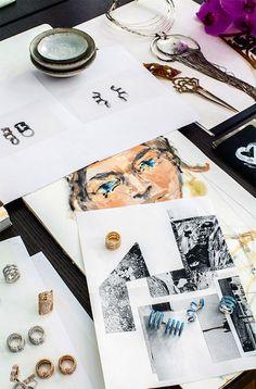 Jewelry Designer Gaia Repossi Paris Apartment Home Vogue Russia
