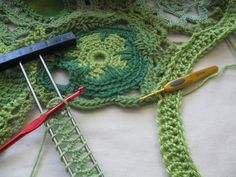 Hairpin crochet strips work very well for freeform