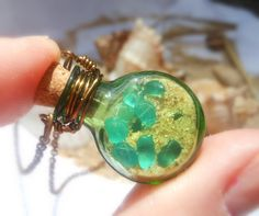 Seaglass Bottle Necklace