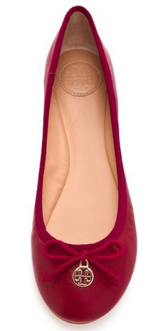 loving these red flats for the holidays | tory burch