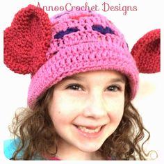 Annoo's Crochet World: Valentine Hat Free Pattern