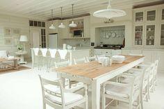 painted kitchens, kitchen idea, white decor, open kitchens, open plan, kitchen walls, dining tables, dream kitchens, white kitchens