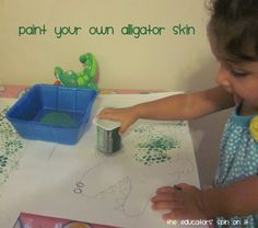 Paint your own Alligator skin...tot school @ The Educators' Spin On It