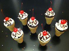 Ice Cream Cone Sundae CUPCAKES