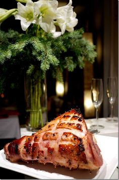 Fig and brandy glazed Christmas ham