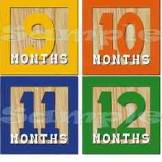 Baby blocks Month St