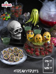 """Re-pin this pin and you could WIN an awesome Melissa's Exotic Fruit Basket, full of these FREAKY FRUITS™!! Also, make sure to follow our board """"Freaky Fruits""""!  Good Luck and Happy Pinning!!"""