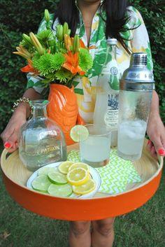 summer beverage tray