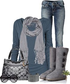 """""""Casual"""" by cindycook10 ❤ liked on Polyvore winter #outfit Casual Outfit, Boot, Fashion, Coach Bags, Cloth, Style, Coach Purses, Blue, Winter Outfits"""