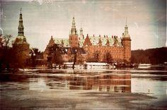 a snowy castle