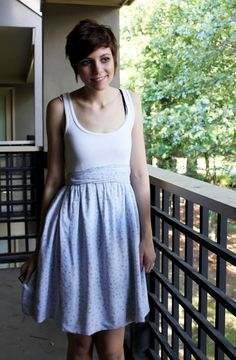 DIY high waisted dress. $6.00
