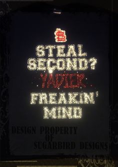 STL Cardinals Steal Second? YADIER Freakin' Mind Tee $35.00 http://etsy.me/10m36ef