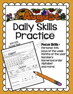 Daily Skills Practice/ Morning Work from School Bells N' Whistles on TeachersNotebook.com -  (20 pages)  - Morning Work for ESL, Special Education or Primary grades.