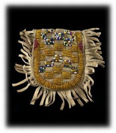 Plains Indian Beaded Bag 1890's
