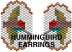 HUMMINGBIRD EARRINGS PATTERN by Suzanne Cooper at Bead-Patterns.com