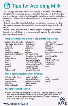 Tips for Avoiding Milk and Reading Labels for #MilkAllergy #foodallergy