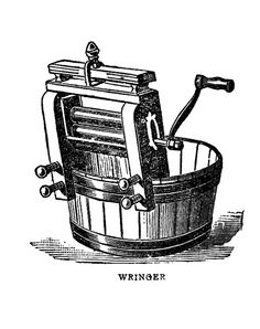 Vintage Graphic Images - Laundry - Wringer and Iron - The Graphics Fairy