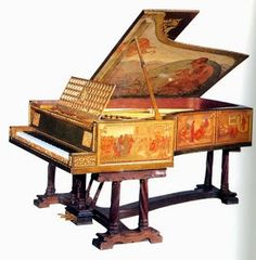 Grand Piano for the Great Hall at Lympne Castle, Kent by Phoebe Anna Traquair, 1909-11. Pre Raphaelite
